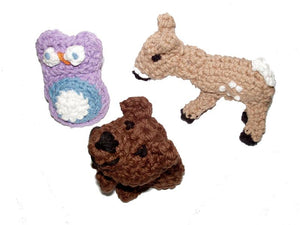 Dog Toys-Woodland Trio with Squeakers- USA Made for Small dogs - A Pet's World