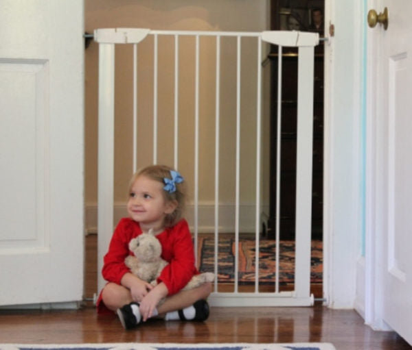Pressure Mounted Pet and Baby Gate with Door - A Pet's World