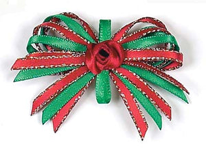 Dog Hair Bows-Christmas Loops - A Pet's World