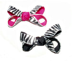 Load image into Gallery viewer, Dog Hair Bows-Zebra Prints - A Pet's World