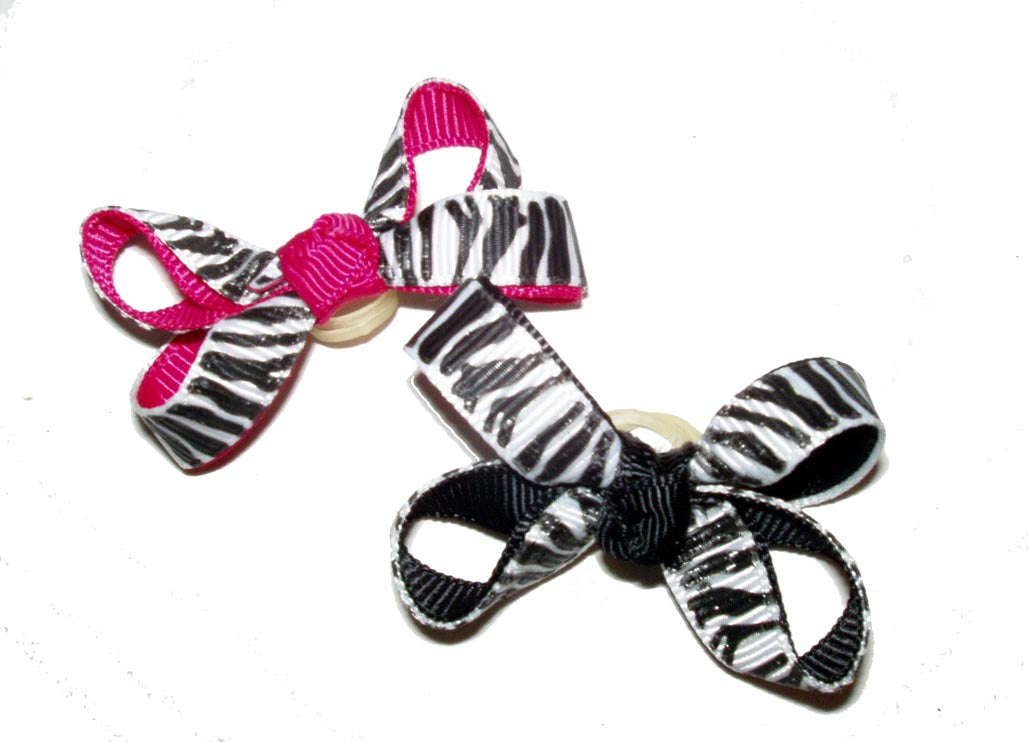 Dog Hair Bows-Zebra Prints - A Pet's World