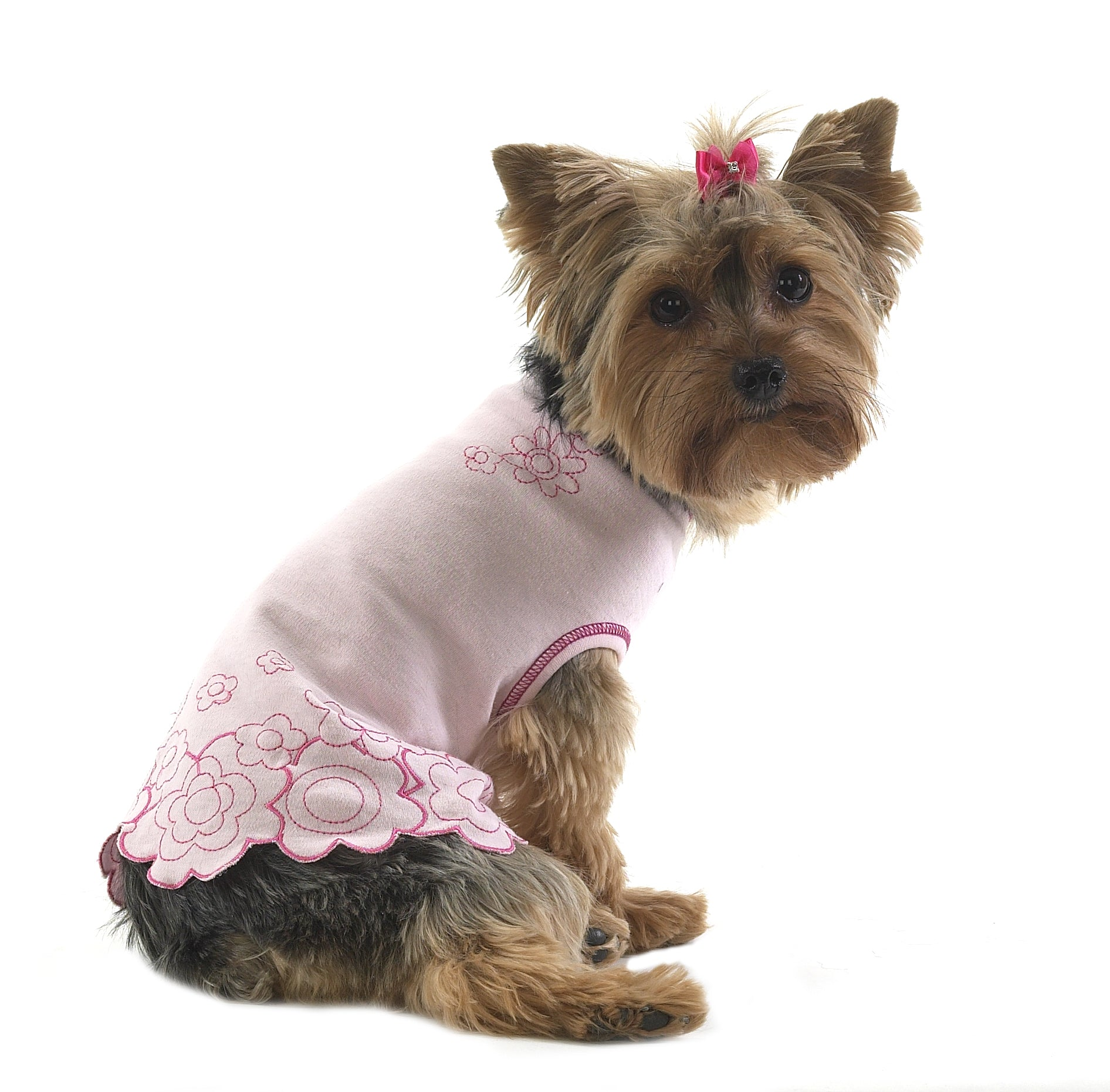 Dog T-Shirt-Pink Posy Flowers - A Pet's World