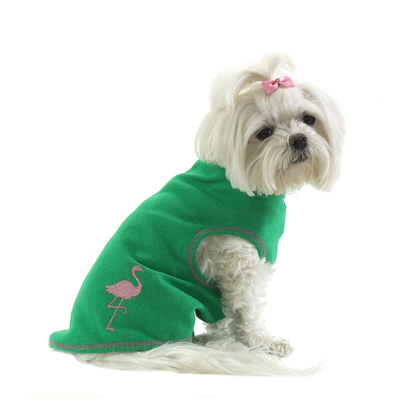 Dog T-Shirt-Sparkle Flamingo - A Pet's World