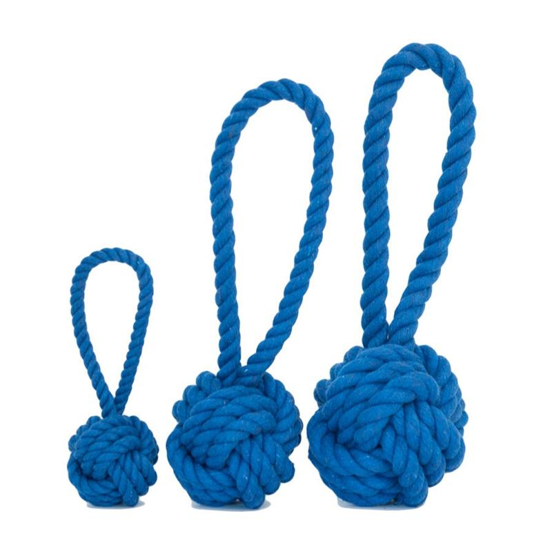 Dog Toys-Blue Tug and Toss Rope Toys - A Pet's World