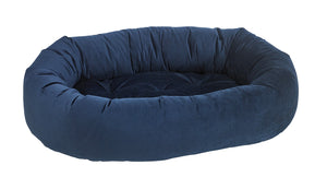 Pet Bed- Solid Navy Color Microvelvet Donut Bed - A Pet's World