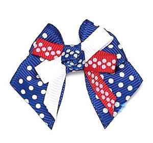 Dog Hair Bows-Patriotic Knot Bow - A Pet's World