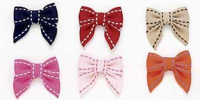 Dog Hair Bows--Saddle Stitch Bows - A Pet's World