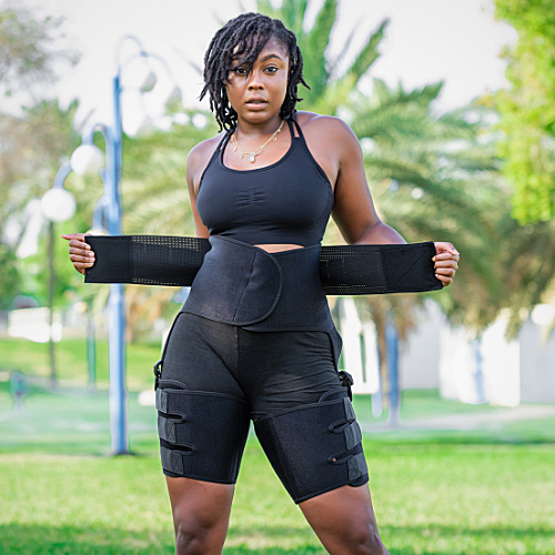 3 in 1 waist trainer and thigh trimmer shapewear for weight loss
