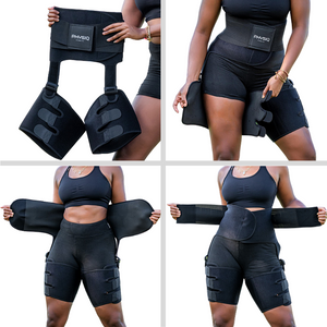 Waist and thigh trimmer sauna belts. Slimming sweat belts for weight loss.