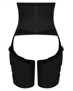 Load image into Gallery viewer, Best body shaper for weight loss. Gym waist trainer. Sweat waist belt and thigh trainers. Sauna belt for exercise.