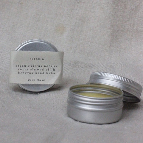 Organic Citrus Nobilis, Sweet Almond Oil and Beeswax Hand Balm