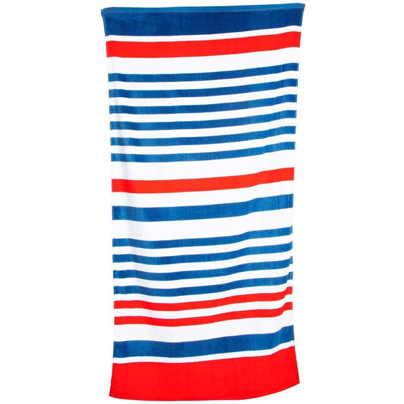 RED,WHITE & BLUE STRIPPED TOWEL - Sixbows.com