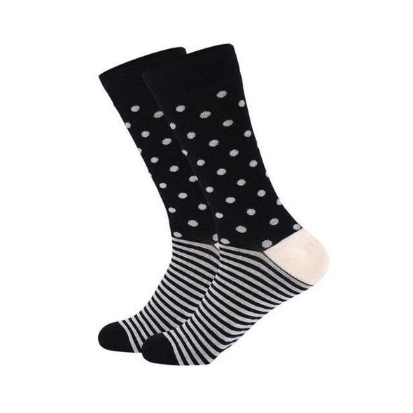 Dots & Stripes Black Sock - Sixbows.com