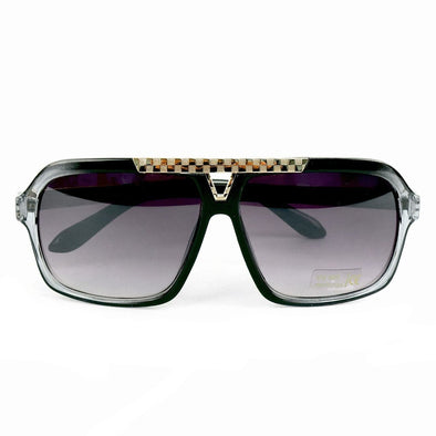 Black Rectangular Sunglasses - Sixbows.com