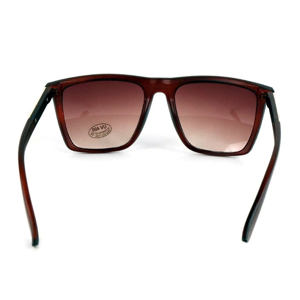 Brown Rectangular Sunglasses - Sixbows.com