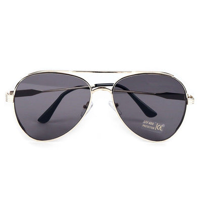 Gold Metal Frame Aviator Sunglasses - Sixbows.com