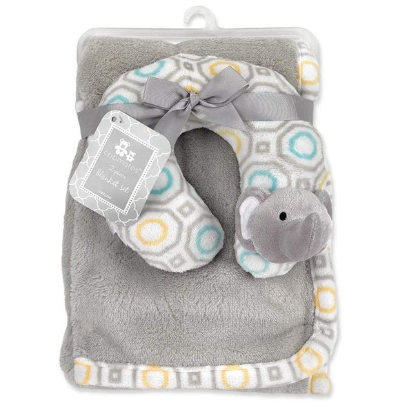 2-PIECE GREY BLANKET SET - Sixbows.com