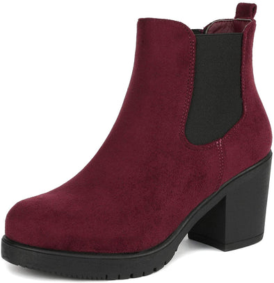 DREAM PAIRS Women's FRE High Heel Chelsea Style Ankle Bootie - Sixbows.com