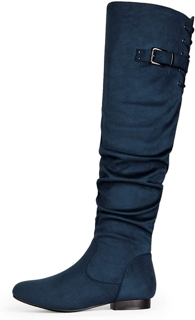 DREAM PAIRS Women's Suede Over The Knee Thigh High Winter Boots - Sixbows.com
