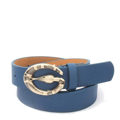Snake Buckle Leather Belt - Sixbows.com