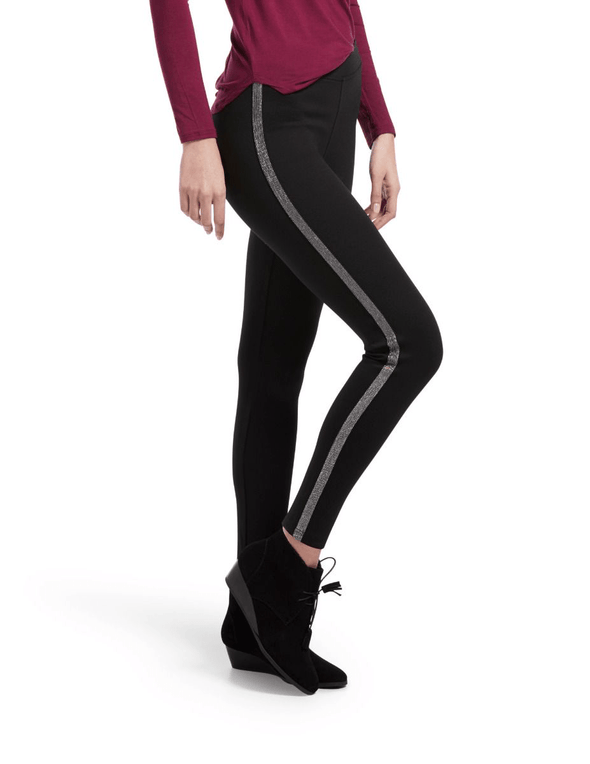 Hue METALLIC TUXEDO PONTE LEGGINGS - Sixbows.com