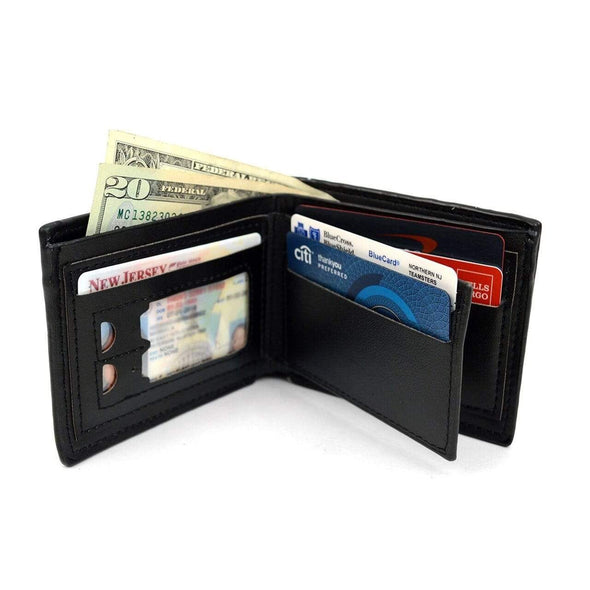 Bi-Fold Leather Men's $100 Dollars Embossed Wallet - Sixbows.com