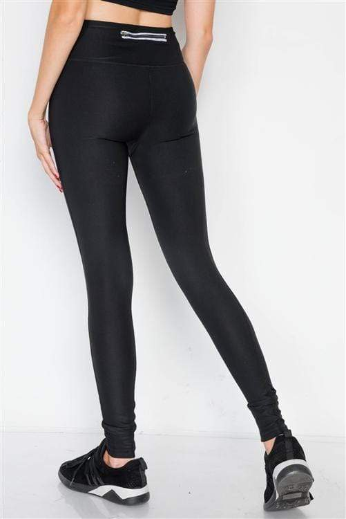 Jet Black Riffle Green Watercolor High-Rise Legging - Sixbows.com