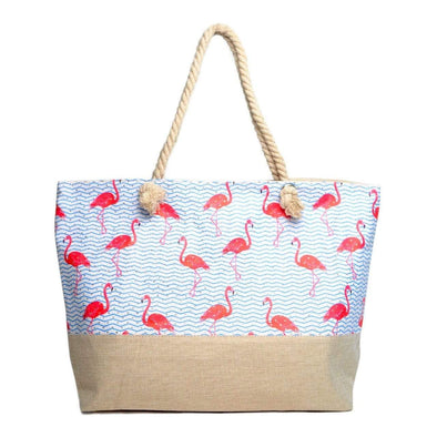 Flamingo Rhinestone Tote Bag - Sixbows.com