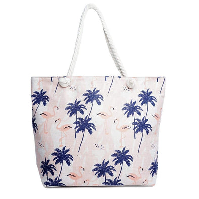 Palm Tree & Flamingo Tote Bag - Sixbows.com