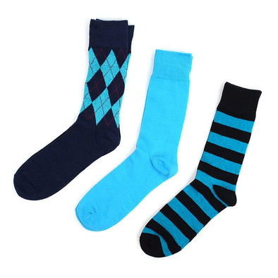Blue Dress Socks 3PK - Sixbows.com