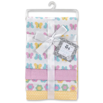 4 PACK FLANNEL RECEIVING BLANKETS - BUTTERFLY - Sixbows.com