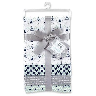 4 PACK FLANNEL RECEIVING BLANKETS - TEPEE - Sixbows.com