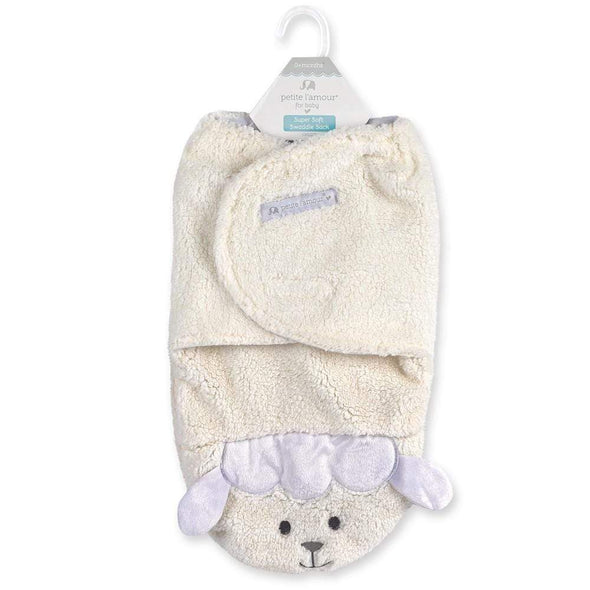 SUPER SOFT SWADDLE - SHEEP - Sixbows.com