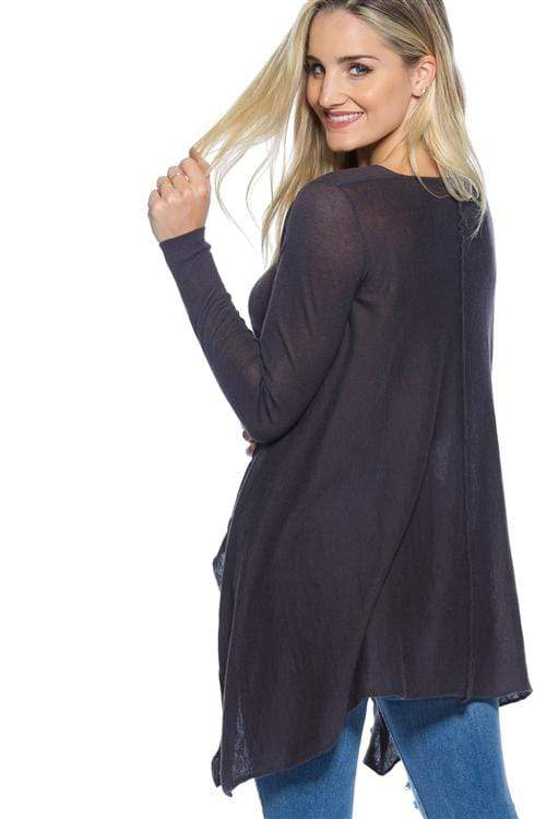 Charcoal Oversized Sweater - Sixbows.com