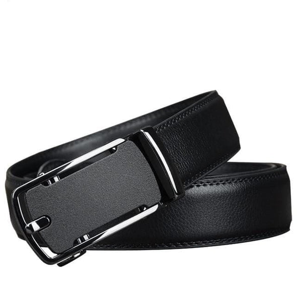 COWATHER Leather Belts For Men Top Quality Cow Genuine Leather Automatic Buckle Men's Belt Black Luxury Male Cowhide Strap CZ136 - Sixbows.com