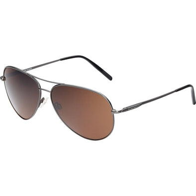 Serengeti Medium Aviator Matte Gunmetal Sunglasses - Sixbows.com