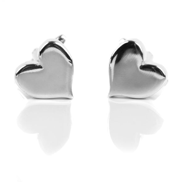 Silver Heart Cufflinks - Sixbows.com