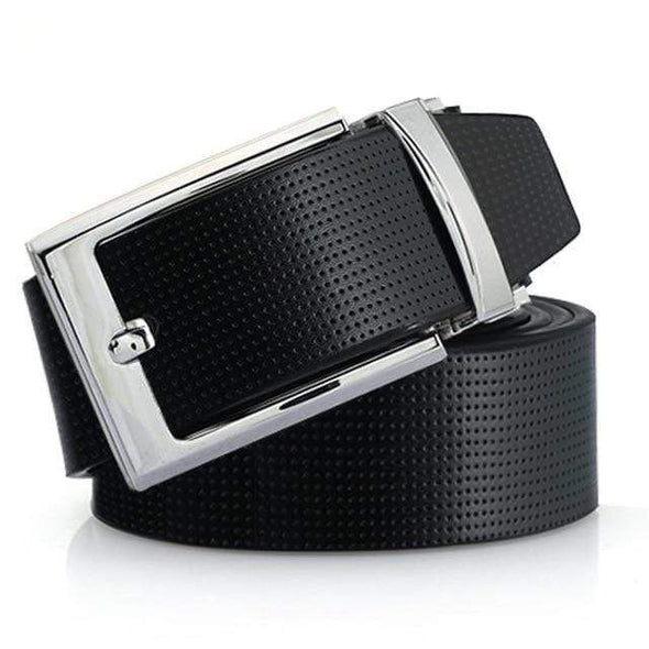 Maikun Cowskin Leather Pin Buckle Belts for Men High Quality Male Strap Fashion Silvery Reversible Buckle Men's Belt - Sixbows.com
