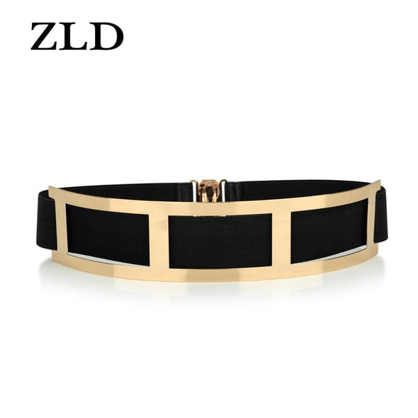 ZLD Sexy ladies gold belt, ladies elastic mirror, metal belt, wide belt, women's dress accessories  luxury fashion  waist belt - Sixbows.com