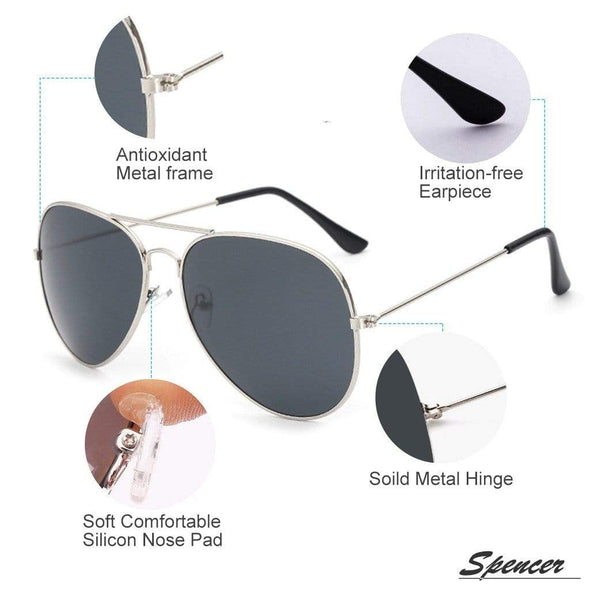 Spencer Retro Aviator Sunglasses - Sixbows.com