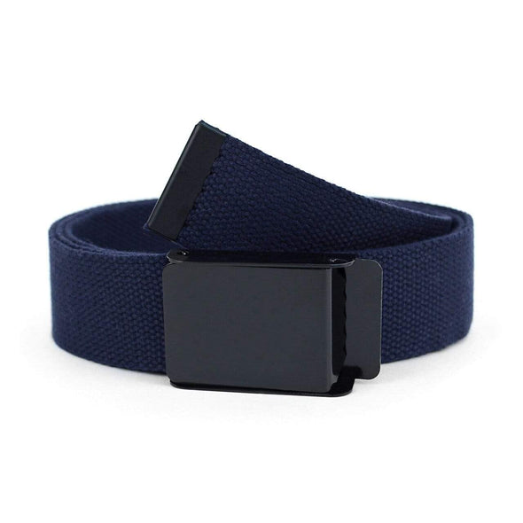 Men's Flip-To Buckle Military Style Canvas Belt - Sixbows.com