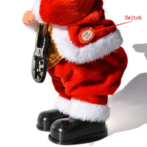 Electric Santa with guitar
