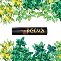 Focus Roller- Organic- Lemon & Peppermint essential oil