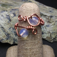 Opal Ring- Wire-wrapped Copper