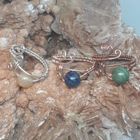 Wire-wrapped Gemstone Ring. Custom Metal & Stone #Bet