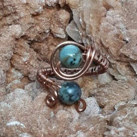 Wire-wrapped Rings- Healing Gemstones - Copper or Silver #Aleph