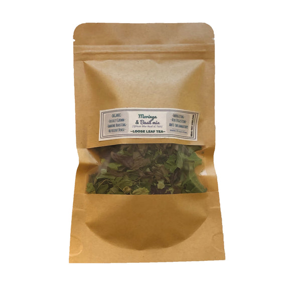 Organic Moringa & Basil Mix- Loose Leaf Tea- Tulsi