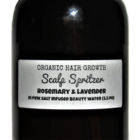 Organic Hair Growth- Scalp Spritzer- Rosemary & Lavender essential oils