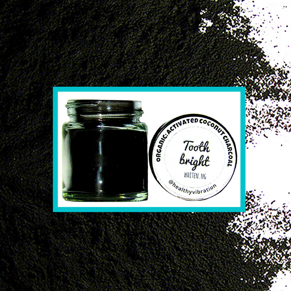Tooth Bright Whitening- Organic- Activated Coconut Charcoal