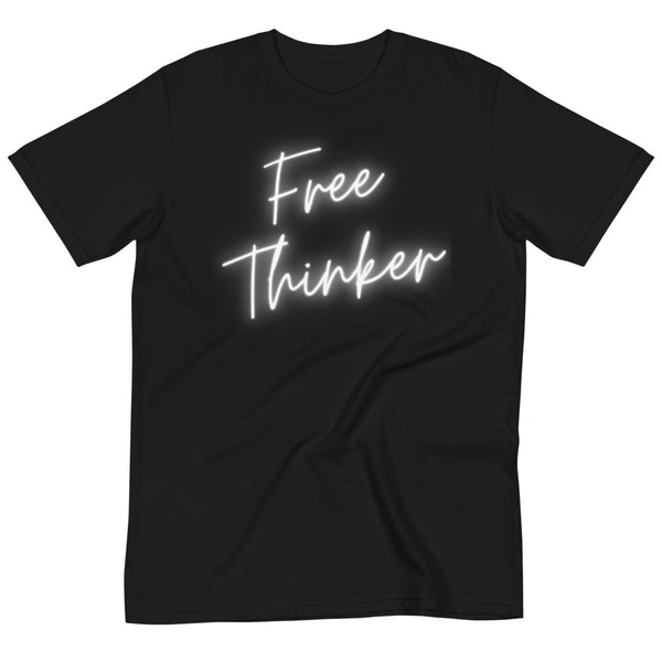 Organic FREE THINKER Tshirt- Black